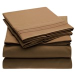 Simmons Mellanni Full Mocha Bed Sheet Set Mellanni Bed Sheet Set 434229-5