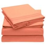 Simmons Mellanni Full Coral Bed Sheet Set Mellanni Bed Sheet Set 434247-5