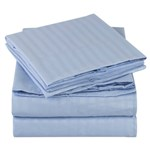 Simmons Mellanni Queen Striped-light Blue Bed Sheet Set Mellanni Bed S