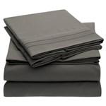 Simmons Mellanni King Gray Bed Sheet Set Mellanni Bed Sheet Set