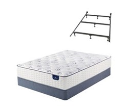 Queen Size Plush Mattress and Box Spring Sets with Bed Frame serta select 300 plush