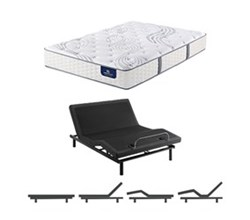 California King Size Luxury Firm Mattress and Adjustable Base serta elite 600 luxury firm