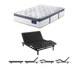 Queen Size Plush Super Pillow Top Mattress and Adjustable Base serta elite 600 plush spt