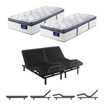 Serta Elite 800 Firm Spt Split King Mattress W Base Serta Perfect Slee