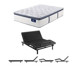 TwinXL Size Firm Super Pillow Top Mattress and Adjustable Base serta utimate 900 firm spt