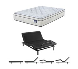 TwinXL Size Luxury Firm Mattress and Adjustable Base serta euro top 300