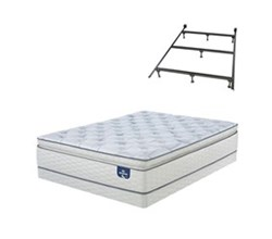 Full Size Firm Super Pillow Top Mattress and Box Spring Sets with Bed Frame serta super pillow top firm 300