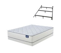 Queen Size Plush Mattress and Box Spring Sets with Bed Frame serta plush 200