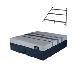 TwinXL Size Luxury Firm Mattress and Box Spring Sets with Bed Frame serta icomfort blue max 5000