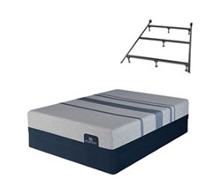 King Size Plush Mattress and Box Spring Sets with Bed Frame serta icomfort blue max 3000