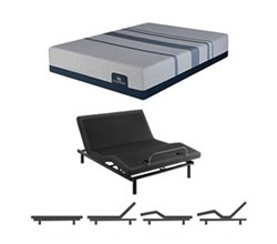 Queen Size Plush Mattress and Adjustable Base serta icomfort blue max 3000