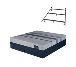 Serta King Size Luxury Firm Mattress and Box Spring Set W Frame  serta icomfort blue max 5000