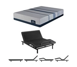 Queen Size Plush Mattress and Adjustable Base serta icomfort blue max 1000 ps