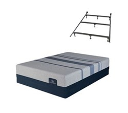 Serta King Size Luxury Firm Mattress and Box Spring Set W Frame  serta icomfort blue max 1000 cfm