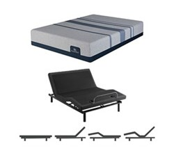 Full Size Luxury Firm Mattress and Adjustable Base serta icomfort blue max 1000 cfm