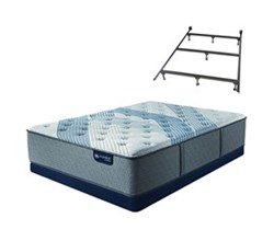 Serta King Size Luxury Firm Mattress and Box Spring Set W Frame  serta icomfort blue fusion 1000 lf
