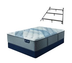 Serta Full Size Luxury Firm Mattress and Box Spring Set W Frame serta icomfort blue fusion 1000 lf