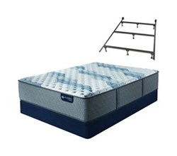 Serta California King Size Mattress Box Spring Sets with Frame serta icomfort blue fusion 500 xf