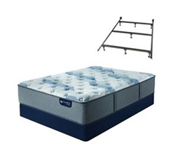 Serta California King Size Mattress Box Spring Sets with Frame serta icomfort blue fusion 100 f