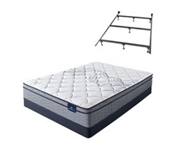 Serta Queen Size Plush Mattress and Box Spring Set W Frame  perfect sleeper elkins ii pet