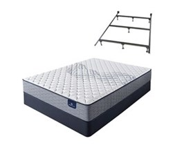 Serta Full Size Plush Mattress and Box Spring Set W Frame perfect sleeper elkins ii pl