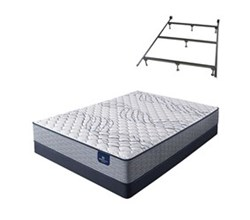 Serta Queen Size Extra Firm Mattress and Box Spring Set W Frame kleinmon ii firmqueen size mattress and low profile box spring set with frame