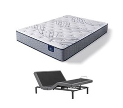 Serta Queen Size Plush Mattress and Adjustable Bases perfect sleeper select kleinmon ii pl