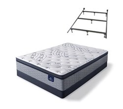 Serta Cal King Size Plush Super Pillow Top Mattress and Box Spring Set W Frame  perfect sleeper select kleinmon ii ppt