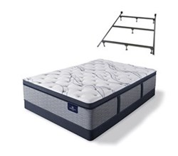 Serta Cal King Size Plush Super Pillow Top Mattress and Box Spring Set W Frame  perfect sleeper elite trelleburg ii ppt