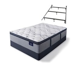 Serta Full Size Plush Super Pillow Top Mattress and Box Spring Set W Frame  perfect sleeper elite trelleburg ii ppt