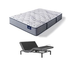 Serta Queen Size Plush Mattress and Adjustable Bases perfect sleeper elite trelleburg II pl
