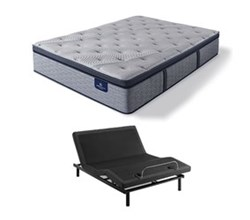 Serta Full Size Luxury Firm Mattress and Adjustable Base perfect sleeper hybrid standale ii fpt