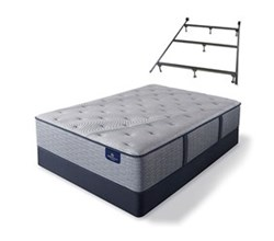 Serta Cal King Size Luxury Firm Mattress and Box Spring Set W Frame perfect sleeper hybrid standale ii lf
