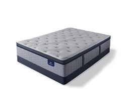 Serta King Size Plush Super Pillow Top Mattress and Box Spring Set  perfect sleeper hybrid standale ii ppt