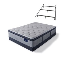 Serta Full Size Plush Super Pillow Top Mattress and Box Spring Set W Frame  perfect sleeper hybrid standale ii ppt