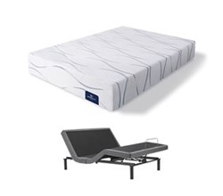 Serta Queen Size Plush Mattress and Adjustable Bases perfect sleeper elite foam carriage hill ii