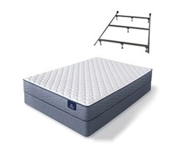Serta Twin Size Extra Firm Mattress and Box Spring Set W Frame sleeptrue malloy f