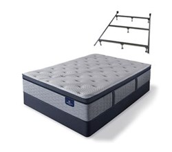 Serta Cal King Size Plush Super Pillow Top Mattress and Box Spring Set W Frame  perfect sleeper hybrid standale ii ppt