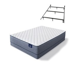 Serta Cal King Size Extra Firm Mattress and Box Spring Set W Frame sleeptrue alverson ii f