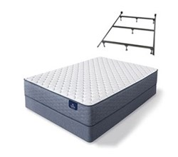 Serta Queen Size Extra Firm Mattress and Box Spring Set W Frame sleeptrue alverson ii f