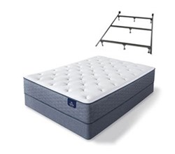 Serta Twin Size Plush Mattress and Box Spring Set W Frame  sleeptrue alverson ii pl