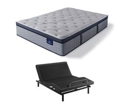 Serta Queen Size Plush Super Pillow Top Mattress and Adjustable Base Perfect Sleeper Hybrid Standale II PPT