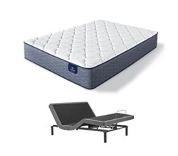 Serta Queen Size Plush Mattress and Adjustable Bases sleepTrue malloy pl