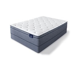 Serta Queen Size Hard Feel Luxury Firm Mattress  sleeptrue alverson ii fet