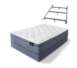 Serta Cal King Size Luxury Firm Mattress and Box Spring Set W Frame  sleeptrue alverson ii fet